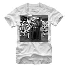 Adult White Space Action Movie Star Wars Imperial Gym Darth Vader T-Shirt Tee