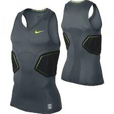 NWT Mens Nike Pro Combat Hyperstrong 3.0 Padded Compression Shirt-Gray/Volt/Blk