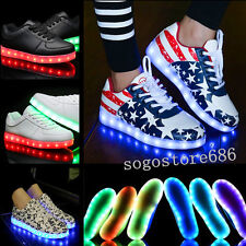 Unisex LED Light Lace Up Couples Sportswear Sneaker Luminous Casual Shoes PC342