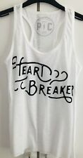 Urban Outfitters White Heartbreaker Palmercash Vest Tank Top BNWT S M L RRP £30