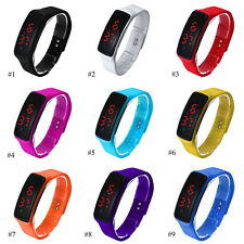 New Fashion Silicone LED Sport Bracelet Touch Digital Wrist Watch For Men Womens