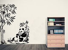 Bamboo Wall Art & baby panda - a great Wall Sticker pour n'importe quelle pièce. 3 x tailles