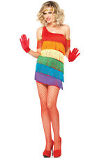 Brand New 1920s Rainbow Flapper Outfit Gatsby Adult Costume