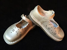 Clarks Champagne Home Stitch Mary Jane Flat Toddler Girls Shoes 6W *NEW*