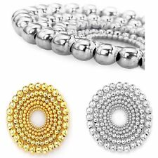 Wholesale 100/500pcs Silver Gold Plated Metal Round Ball Spacer Beads 4/5/6/8mm
