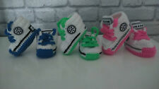 BABY CROCHET TRAINERS AUTUMN 2015/SHOES/LACES/KNIT/HAND-MADE/BOOTIES/GIRL,BOY
