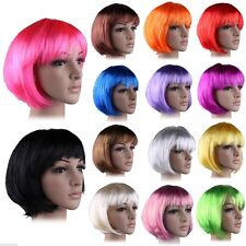 35%off US Low Price BOB Short Wigs Straight Hair Multi Colors Party Fancy Dress
