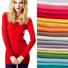 New Women Lady Long Sleeve Jumper Sweater Pullovers Casual Knitted Knitwear T70