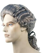 Colonial Man Discount Washington 18th Century Revolutionary Pigtail Costume Wig
