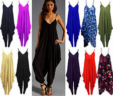 WOMENS LAGENLOOK STRAPPY BAGGY HAREM JUMPSUIT DRESS LADIES HAREEM TOP PLAYSUIT