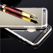 Ultra Thin Mirror Silicone Clear TPU Frame Case Cover Shell For iPhone 6 4.7''