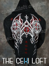 """Mens XTREME COUTURE HOODIE Jacket """"DEAD MAN"""" Black Style# X1408"""