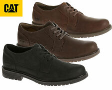 Caterpillar Mens Black Real Leather Casual Cat Shoes Smart Formal Cason