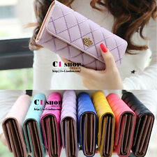 Fashion Lady Women Clutch Long Purse Leather Wallet Card Holder Handbag Bags GT