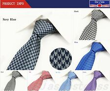 Fashion Mens Hand Made Tie Set With Check-Swallow Gird Tie With Gift Box New