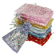 50Pcs Vogue Organza Jewelry Wedding Favor Rose Gift Pouch Bags 7X9cm Mix-Color