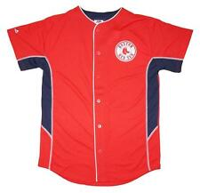 NWT Majestic Boston Red Sox MLB Youth 8-20 Team Leader Jersey - Red
