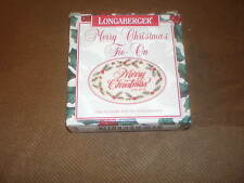 Longaberger 1995 Merry Christmas Cranberry Basket Tie-On