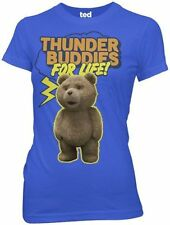 Juniors Womens/Teens Ted Comedy Movie Thunder Buddies For Life Blue T-shirt Tee