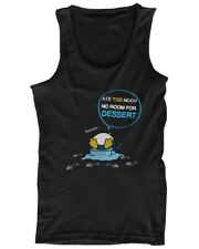 Penguin Ate Too Much No Room For Dessert Funny Men's Tank Top Cute Tanktop
