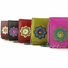NEW Designer Ladies LEATHER Flap-over Purse/Wallet by Dominque 5 Colours Handy