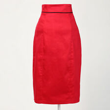 rockabilly vintage 50s 60s pin-up pencil skirt red high waisted online for women