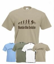 Evolution to Mountain Bike t-shirt Funny MTB bicycle  T-shirt sizes S TO XXL