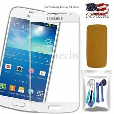 White Front Outer Screen Glass Lens Replacement Tools for Samsung Galaxy S4 mini