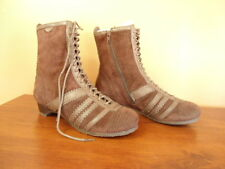 Womens Size 6M Biviel Brown Suede Leather Lace-Up Boots NEW 36 Eu