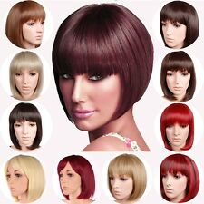 USA Central Skin Parting Line Short BOB Wig Full Wig Style Heat Resistant Girls