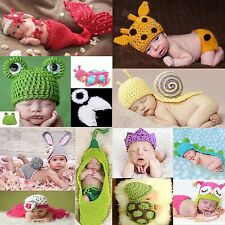 NewBorn Baby Girls Boys Crochet Knit Costume Clothes Photo Photography PropLots