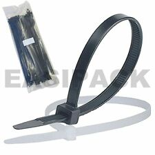 Cable Ties (Black White/Natural) Nylon Plastic Zip Tie Wraps 100mm 200mm 300mm