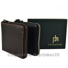 NEW Mens Quality Soft LEATHER Zip-Around WALLET by PrimeHide Gift Boxed Stylish