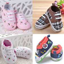 Toddler Boys Girls Plaid Shoes Lace Up Soft Sole Baby First Walking Shoes Sneake