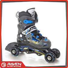 KIDS Adjustable Roller Blades Rollerblades Inline Skates Raven HighQuality 3in1