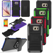 Rugged Hybrid Case Armor Cover+Belt Clip Holster Stand For Samsung Galaxy Note 5