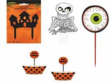 Halloween Cake Toppers, Picks, Cupcake Cases- Skeletons, Ghosts Cake Decorations