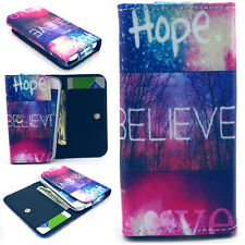 Believe Love Wallet PU Leather Case Cover For Call Phone Samsung /Sony /HTC /LG