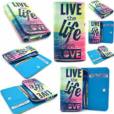 Life Card Wallet Leather Case Cover For Phone Samsung LG Sony Huawei