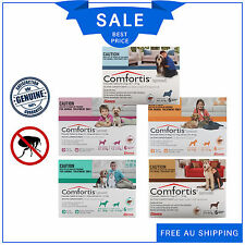 Comfortis Chewable Tablets For Dogs 6 Chews Flea Treatment all sizes by Elanco
