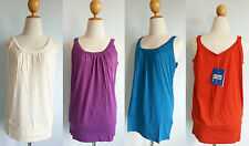 *NWT Patagonia Women ASTRID Crew Tank Organic Cotton Top Stretchy Pleated XS S L
