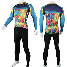 New Paladin Colorful Rose Cycling Jerseys Bicycle Bike Comfortable Men Sportwear