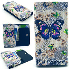 Butterfly Money Wallet Leather Case Cover For Call Phone Samsung /Sony /HTC /LG