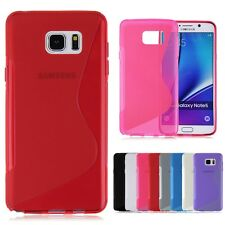 S-Line Soft TPU Gel Silicon Rubber Case Cover For Samsung Galaxy Note 5 SM-N920T