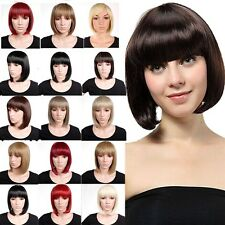 US Fashion Womens Ladies Short BOB Wig Full Wig Brown Blonde Red Heat Resistant