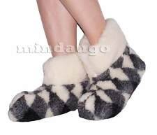 US/CA WOMEN SIZES. SHEEP WOOL SLIPPERS BOOTIES 100% PURE WOOL