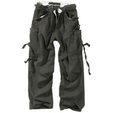 Vintage Fatigues Mens Combat Trousers Surplus Cargo Army Style Work Pants Black