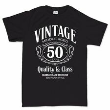 Vintage Aged Mens 50th Birthday Funny T shirt - Gift for Dad Fathers
