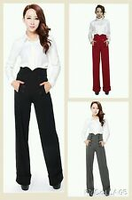 1940's High Waisted Trousers Pants Vintage Retro Rockabilly Pin Up