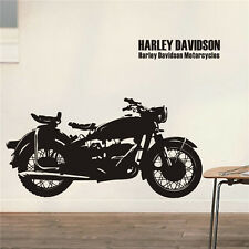 New Vinyl Art Wall Stickers Home Decor DIY Lettering Motorcycle Mural Decals